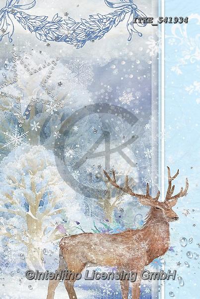 Isabella, CHRISTMAS LANDSCAPES, WEIHNACHTEN WINTERLANDSCHAFTEN, NAVIDAD PAISAJES DE INVIERNO, paintings+++++,ITKE541934,#xl# ,deer