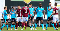 Northampton Town and Fleetwood Town players shake hands at the end of a game which Fleetwood won 1-0 <br /> <br /> Photographer Andrew Kearns/CameraSport<br /> <br /> The EFL Sky Bet League One - Northampton Town v Fleetwood Town - Saturday August 12th 2017 - Sixfields Stadium - Northampton<br /> <br /> World Copyright &copy; 2017 CameraSport. All rights reserved. 43 Linden Ave. Countesthorpe. Leicester. England. LE8 5PG - Tel: +44 (0) 116 277 4147 - admin@camerasport.com - www.camerasport.com