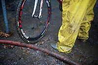 cleaning station in the pits<br /> <br /> Superprestige Gavere 2014