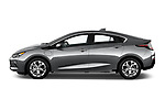 Car Driver side profile view of a 2016 Chevrolet Volt Premier 5 Door Hatchback Side View