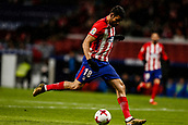 9th January 2018, Wanda Metropolitano, Madrid, Spain; Copa del Rey football, round of 16, second leg, Atletico Madrid versus Lleida; Diego Costa (Atletico de Madrid) with a shot on goal
