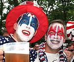 22 June 2006: U.S. fans. Ghana played the United States at the Frankenstadion in Nuremberg, Germany in match 42, a Group E first round game, of the 2006 FIFA World Cup.