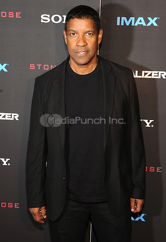 New York, NY-September 22: Actor Denzel Washington attends a special screening of The Equalizer at the AMC Lincoln Square 13 IMAX on September 22, 2014 in New York City.  Credit: John Palmer/MediaPunch
