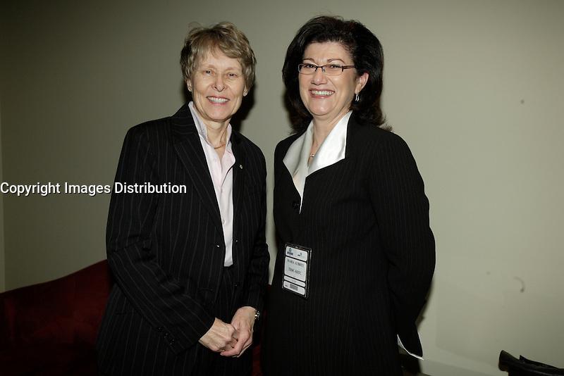 Montreal (QC) CANADA, March 16 to 19 2009 - <br /> Roberta Bondar, Maria Aubrey ,TDDC-STDC