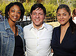 From left: Denise Furlough, Nick Espinosa and Katherine Orellana at the Beastly Brunch at the Houston Zoo Sunday Feb. 28,2010. (Dave Rossman Photo)