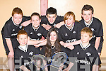 The Listowel team at the County Badminton community games finals in St Mary's Parish Hall, Killarney on Saturday was l-r: Michael Grimes, Emer Hannon, Cian Liston. Back row: Samuel Sparks, Susan Broderick, Rici Hanley, Emer Liston and Conor Dillon