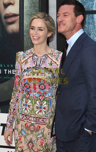 Emily Blunt and Luke Evans at The Girl on the Train - world film premiere at the Odeon Leicester Square. London on September 20th 2016<br /> CAP/ROS<br /> &copy;Steve Ross/Capital Pictures