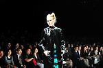 October 19, 2012, Tokyo, Japan - A model poses on the catwalk wearing ''G.V.G.V'' during Mercedes-Benz Fashion Week Tokyo 2013 Spring/Summer. The Mercedes-Benz Fashion Week Tokyo runs from October 13-20. (Photo by Yumeto Yamazaki/AFLO)