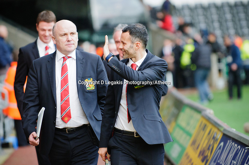 Sunday, 23 November 2012<br /> <br /> Pictured: Manchester United Arrive at the stadium<br /> <br /> Re: Barclays Premier League, Swansea City FC v Manchester United at the Liberty Stadium, south Wales.