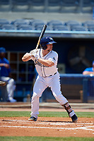 Charlotte Stone Crabs Zacrey Law (6) during a Florida State League game against the Dunedin Blue Jays on April 17, 2019 at Charlotte Sports Park in Port Charlotte, Florida.  Charlotte defeated Dunedin 4-3.  (Mike Janes/Four Seam Images)