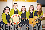 The Moyvane Ballad Group who took part in the County Final of Scór na nÓg in Foilmore on Sunday were l-r; Amiee Lindsell, Margaret Mulvihill, Lisa Mulvihill, Lisa Stackpoole & Laura Stack.