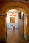 San Juan Bautista, CA<br /> Old Mission San Juan Bautista (1797), baptistery room with stoner baptismal fonts