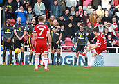 5th November 2017, Riverside Stadium, Middlesbrough, England; EFL Championship football, Middlesbrough versus Sunderland; Stewart Downing of Middlesbrough free kick was well saved by Robbin Ruiter of Sunderland in the second half of the 1-0 win