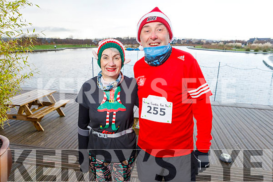 Noreen Quirke (Farmers Bridge) and Conor Cusack (The Kerries) at the Fiona Moore Memorial 5k Fun Run in the Tralee Bay Wetlands on Sunday morning.