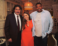 Alfred Molina, Tatiana Brunetti, and Omar Miller attend the Mari Vanna LA One-Year Anniversary Party.
