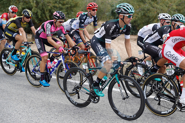 Rafal Majka (POL) Bora-Hansgrohe in action during Stage 7 of the 2017 La Vuelta, running 207km from Ll&iacute;ria-Cuenca, Spain. 25th August 2017.<br /> Picture: Unipublic/&copy;photogomezsport | Cyclefile<br /> <br /> <br /> All photos usage must carry mandatory copyright credit (&copy; Cyclefile | Unipublic/&copy;photogomezsport)