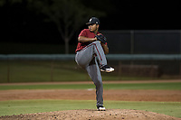 AZL Diamondbacks relief pitcher Ezequiel De La Cruz (14) delivers a pitch during an Arizona League game against the AZL White Sox at Camelback Ranch on July 12, 2018 in Glendale, Arizona. The AZL Diamondbacks defeated the AZL White Sox 5-1. (Zachary Lucy/Four Seam Images)