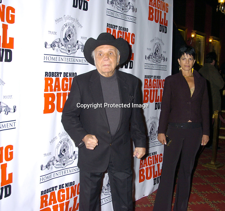 "Jake LaMotta..at The Special 25th  Anniversary Premiere in New York City of ""Raging Bull"" and the release of the Collectors Edition  DVD at The Ziegfeld Theatre on January 27, 2005...Photo by Robin Platzer, Twin Images"