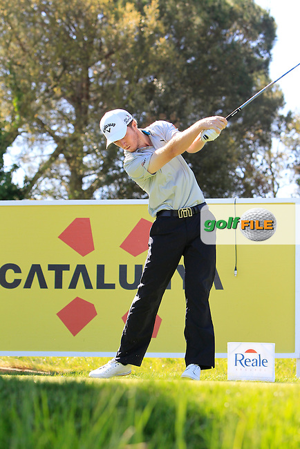 Jacobo Pastor (ESP) on the 13th tee during Thursday's Round 1 of The Open De Espana at The PGA Catalunya Resort. 15th May 2014.<br /> Picture:  Thos Caffrey / www.golffile.ie