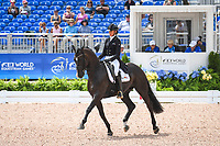 BEL-Isabel Cool rides Aranco V during the FEI World Team Championship Grand Prix Dressage. 2018 FEI World Equestrian Games Tryon. Wednesday 12 September. Copyright Photo: Libby Law Photography