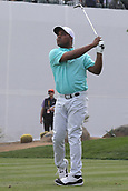 February 2nd 2019, Scottsdale, Arizona, USA; Harold Varner III tees off on the 16th hole during the third round of the Waste Management Phoenix Open on February 02, 2019, at TPC Scottsdale in Scottsdale, AZ.