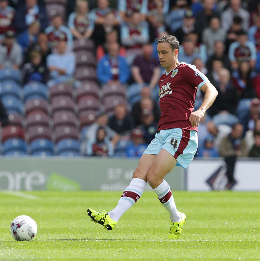 Burnley's Michael Duff<br /> <br /> Photographer Stephen White/CameraSport<br /> <br /> Football - The Football League Sky Bet Championship - Burnley v Birmingham City - Saturday 15th August 2015 - Turf Moor - Burnley<br /> <br /> &copy; CameraSport - 43 Linden Ave. Countesthorpe. Leicester. England. LE8 5PG - Tel: +44 (0) 116 277 4147 - admin@camerasport.com - www.camerasport.com