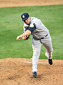 Baltimore, MD - April 6, 2009 -- New York Yankees pitcher Phil Coke (48) pitches in the sixth inning against the Baltimore Orioles at Oriole Park at Camden Yards in Baltimore, MD on Monday, April 6, 2009..Credit: Ron Sachs / CNP.(RESTRICTION: NO New York or New Jersey Newspapers or newspapers within a 75 mile radius of New York City)