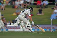 NZ's Ross Taylor safely makes his ground during day two of the international cricket 1st test match between NZ Black Caps and England at Bay Oval in Mount Maunganui, New Zealand on Friday, 22 November 2019. Photo: Dave Lintott / lintottphoto.co.nz