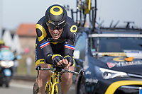 4th place GC: Sylain Chavanel (FRA/Direct Energie)<br /> <br /> 3 Days of De Panne 2017<br /> afternoon stage 3b: ITT De Panne-De Panne (14,2km)