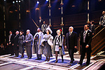 """Nicholas McDonough, Lawrence Redmond, Crystal Mosser, Bobby Smith, Nkrumah Gatling, Natascia Diaz, Nicki Elledge, Christopher Bloch, Ben Gunderson with cast during the Curtain Call for Signature presents """"Grand Hotel - The Musical"""" at The Signature Theatre on April 27, 2019 in Arlington, Virginia - The Musical."""