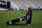 Errol Collins and Graham Henry. All Blacks training. 19 July 2007