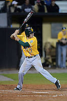 Siena Saints infielder Justin Esquerra (12) during the season opening game against the Central Florida Knights at Jay Bergman Field on February 14, 2014 in Orlando, Florida.  UCF defeated Siena 8-1.  (Mike Janes/Four Seam Images)