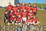 HOST: The host team Ballyheigue under 15 who took on Ardfert under 15 in the under 15 Hurling County Championship in Ballyheigue on Sunday. Front seated l-r: Jimmy Hehir, Adrian Flahive, Colum Irvine and Ian O'Connor. Centre l-r: Michael Leane, Owen Lucid, Michea?l Reidy, Brendan Dunne and Sean Thornton. Back l-r: Brendan Reidy,Philip Lucid, Jerry O'Halloran, Mikie O'Connor, Kieran O'Halloran and Sean Condon.................................. ....