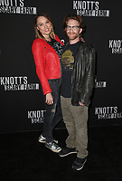 BUENA PARK, CA - SEPTEMBER 29: Clare Grant, Seth Green, at Knott's Scary Farm & Instagram's Celebrity Night at Knott's Berry Farm in Buena Park, California on September 29, 2017. Credit: Faye Sadou/MediaPunch