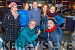 Members of the National Circus Festival of Ireland enjoying the evening in Croí on Saturday night.<br /> Kneeling l to r: Paul Durkin and Burt Reynolds.<br /> Standing l to r: Tina Machina, Kim Tastrophe, Mark and Catriona Blennerhasset, Anastasia Van Den Dick.