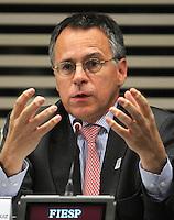 ATENCAO EDITOR: FOTO EMBARGADA PARA VEICULO INTERNACIONAL - SAO PAULO, SP, 10 DEZEMBRO 2012 - A INFLUENCIA DO BRASIL NO SISTEMA INTERNACIONAL SOFT-POWER - O embaixador Jose Humberto de Brito particpou do debate sobre o soft power. A iniciativa, idealizada em conjunto com a Secretaria de Assuntos Estrategicos (SAE) da Presidencia da Republica, tem como objetivo a atuacao do Brasil no cenario internacional, com vistas a identificar a capacidade de o pais influenciar acoes politicas sem o uso da forca ou outra forma de coercao, porem lançando mao de estrategias de cooperacao - conceito conhecido como soft-power, na FIESP nessa terca, 11. (FOTO: LEVY RIBEIRO / BRAZIL PHOTO PRESS)