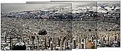 Sarajevo 13.12.2009 Bosnia and Herzegovina<br /> Panaroma main cemetery in Sarajevo, on which lie Bosnians and Serbs, who died in war.<br /> Bosnia and Herzegovina for many years dreamed to be adopted into the European Union. On the streets, everybody can see young and old people who looks like Europeans. Streets in the city center are also similar to European cities. Unfortunately, all people in BiH know that political disagreement between warring nationalities in the parliament does not help them to be accepted into the EU.<br /> Photo: Adam Lach / Newsweek Polska / Napo Images<br /> <br /> Panaroma glownego cmentarza w Sarajewie na ktorym leza bosniacy i serbowi, ktorzy zgineli na wojnie miedzy soba.<br /> BiH od wielu lat marzy by przyjeto ja do UE. NA ulicach widac mlodych i starszych ludzi ktory wygladaja jak europejczycy. Ulice w centrum miasta sa rownie podobne do miast europejskich. Niestety wewnetrznie wszyscy wiedza ze polityczna niezgoda pomiedzy zwasnionymi narodowosciami w parlamencie nie pomaga im na to by przystapic do UE.<br /> Photo: Adam Lach /  Newsweek Polska / Napo Images