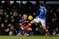 Blackburn Rovers' Jack Payne gets a cross in<br /> <br /> Photographer Andrew Kearns/CameraSport<br /> <br /> The EFL Sky Bet League One - Portsmouth v Blackburn Rovers - Tuesday 13th February 2018 - Fratton Park - Portsmouth<br /> <br /> World Copyright &copy; 2018 CameraSport. All rights reserved. 43 Linden Ave. Countesthorpe. Leicester. England. LE8 5PG - Tel: +44 (0) 116 277 4147 - admin@camerasport.com - www.camerasport.com