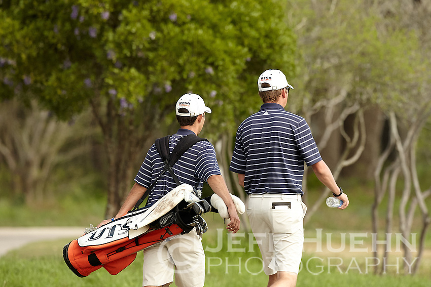 SAN ANTONIO, TX - MARCH 24, 2015: The University of Texas at San Antonio Roadrunners host the UTSA Lone Star Invitational Golf Tournament at the Briggs Ranch Golf Club. (Photo by Jeff Huehn)