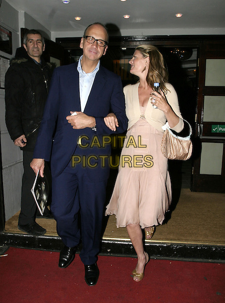 "SUSANNAH CONSTANTINE.Leaving the Opening Night and World Premiere of new musical ""Billy Elliot"", at the Victoria Palace Theatre, London, May 12th 2005..full length cream shrug pink dress bag.Ref: AH.www.capitalpictures.com.sales@capitalpictures.com.©Adam Houghton/Capital Pictures."
