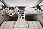 Stock photo of straight dashboard view of a 2015 Nissan Murano Platinum 5 Door SUV Dashboard