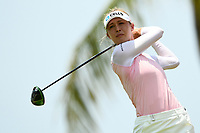 SINGAPORE - MARCH 03: Nelly Korda of USA on the 13th tee during the final round of the HSBC Women's World Championship 2019 at Sentosa Golf Club - Tanjong Course, Singapore on March 03, 2019.<br /> .<br /> .<br /> .<br /> (Photo by: Naratip Golf Srisupab/SEALs Sports Images)<br /> .<br /> Any image use must include a mandatory credit line adjacent to the content which should read: Naratip Golf Srisupab/SEALs Sports Images