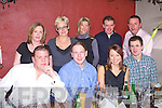 FRIENDS NIGHT: Enjoying a friends Christmas get together at the Station House, restaurant and bar on Saturday seated l-r: Declan Costello, Derek Moynihan, Emily Nelligan and Paul Lynch. Back l-r: Mariead Moynihan, Kim Hegarty, Triona Costello, Anthony Costello and Pascal England.