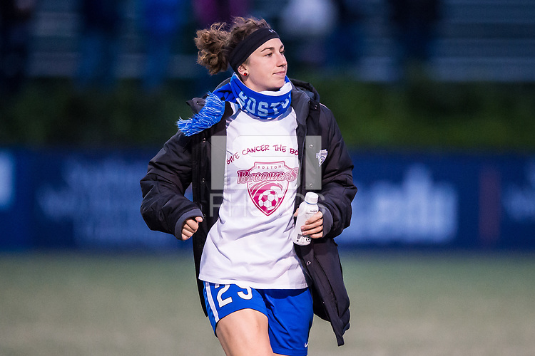 Boston, MA - Saturday September 30, 2017: Morgan Andrews during a regular season National Women's Soccer League (NWSL) match between the Boston Breakers and Sky Blue FC at Jordan Field.