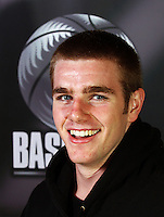 Sam King. Junior Tall Blacks photoshoot at Te Rauparaha Arena, Porirua, Wellington, New Zealand on Friday 20 June 2008. Photo: Dave Lintott / lintottphoto.co.nz