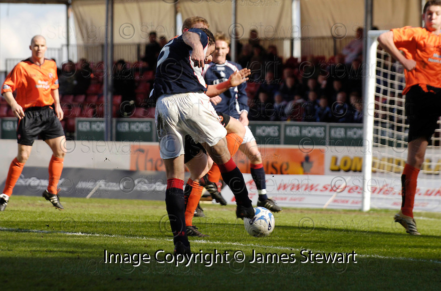 08/04/2006         Copyright Pic: James Stewart.File Name : sct_jspa01_falkirk_v_dundee_utd.JACK ROSS SCORES FALKIRK'S FIRST.Payments to :.James Stewart Photo Agency 19 Carronlea Drive, Falkirk. FK2 8DN      Vat Reg No. 607 6932 25.Office     : +44 (0)1324 570906     .Mobile   : +44 (0)7721 416997.Fax         : +44 (0)1324 570906.E-mail  :  jim@jspa.co.uk.If you require further information then contact Jim Stewart on any of the numbers above.........