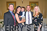 Baby Sean Leon with his parents Linda & Regis Lehmann, Listowel & Switzerland, and god parents Shane Comerford & Joanne Bolger who was christened in St Mary's Church, Listowel by Canon Declan O'Connor and afterwards at the Listowel Arms Hotel.