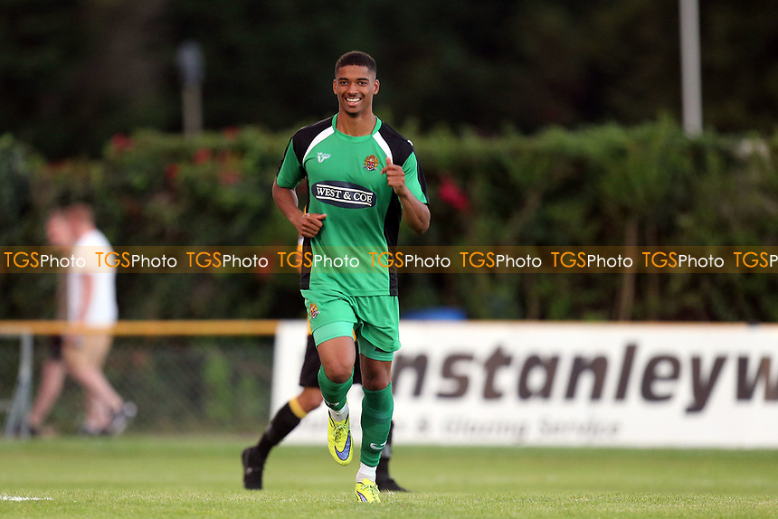 Mason Bloomfield of Dagenham celebrates scoring the second goal during Folkestone Invicta vs Dagenham & Redbridge, Friendly Match Football at Cheriton Road Sports Ground on 31st July 2017