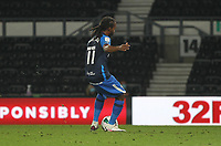 Preston North End's Daniel Johnson scores his side's second goal  from a penalty<br /> <br /> Photographer Mick Walker/CameraSport<br /> <br /> Carabao Cup Second Round Northern Section - Derby County v Preston North End - Tuesday 15th September 2020 - Pride Park Stadium - Derby<br />  <br /> World Copyright © 2020 CameraSport. All rights reserved. 43 Linden Ave. Countesthorpe. Leicester. England. LE8 5PG - Tel: +44 (0) 116 277 4147 - admin@camerasport.com - www.camerasport.com