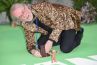 Peter Lord &amp; Morph at the &quot;Early Man&quot; world premiere at the IMAX, South Bank, London, UK. <br /> 14 January  2018<br /> Picture: Steve Vas/Featureflash/SilverHub 0208 004 5359 sales@silverhubmedia.com